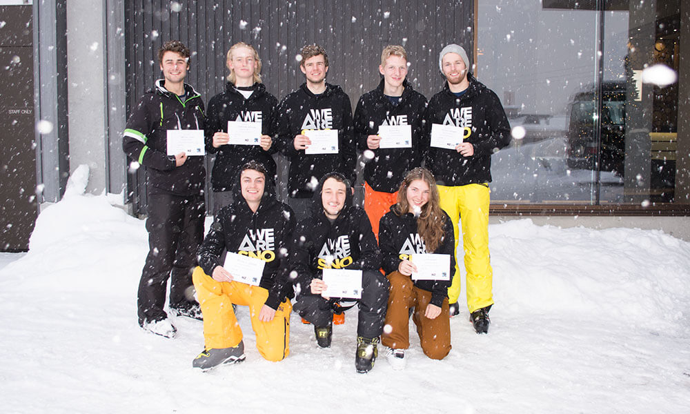 become a ski instructor courses in canada ski internships we are snow team