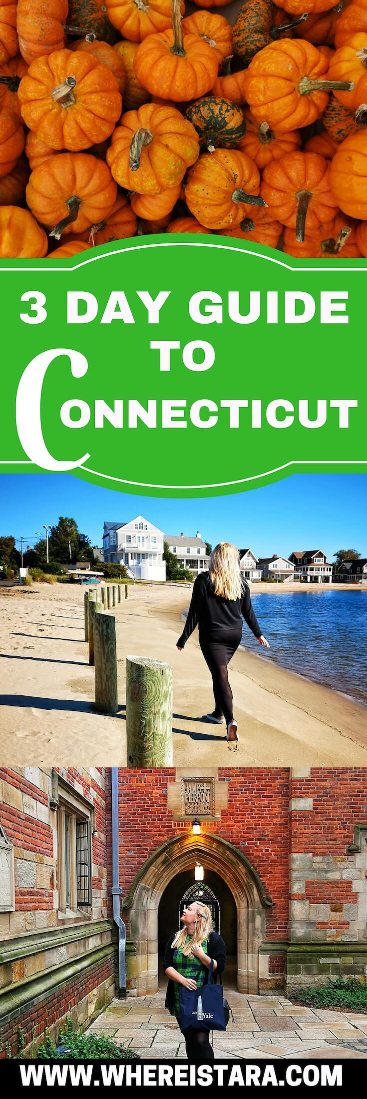 3 days in connecticut 3 day itinerary pin