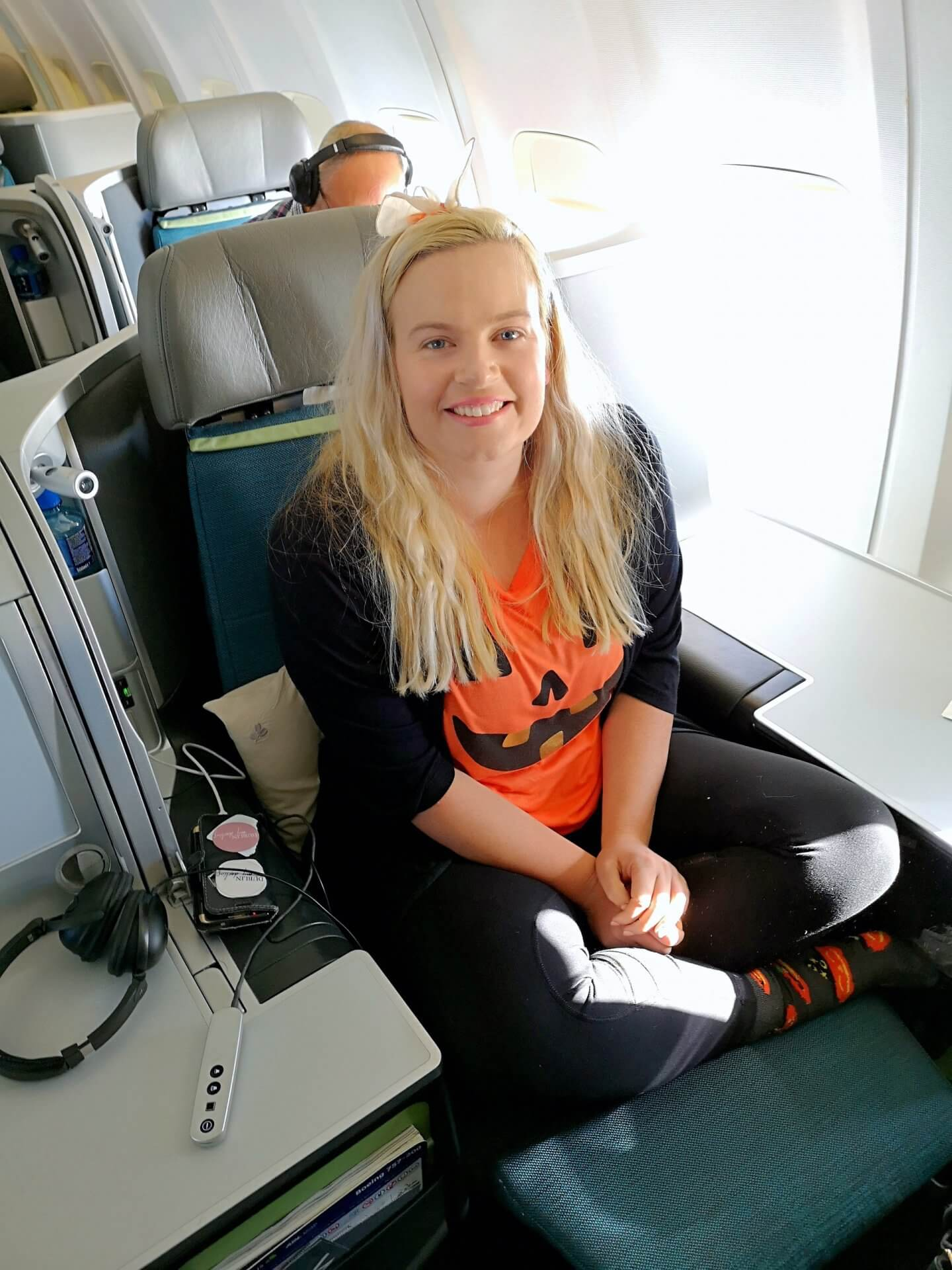 aer lingus business class review throne seat